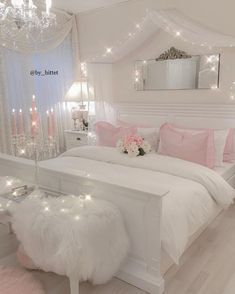 16 cute and girly bedroom decorating tips for girl 00008 Bedroom Decor For Teen Girls, Cute Bedroom Ideas, Room Ideas Bedroom, Kids Bedroom, Summer Bedroom, Decor Room, Bedroom Inspo, Bed Room, Room Design Bedroom