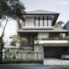 House architecture design - 15 Modern Real Estate That Will Amaze Your Eyes Modern Exterior House Designs, Modern Small House Design, Modern House Facades, Simple House Design, House Front Design, Exterior Design, Minimalist House Design, Modern Tropical House, Tropical Houses