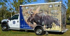 Wyoming Medical Center ambulance - moose