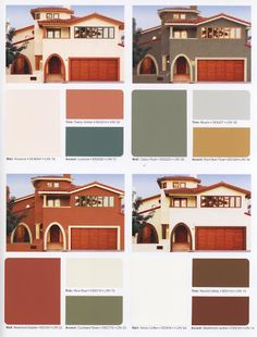 Mediterranean paint colors for the exterior.