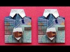 Geldscheine falten: Hemd - zum Geldgeschenke basteln - YouTube Bubbles Wallpaper, Folding Money, Diy And Crafts, Arts And Crafts, Money Origami, Bullet Journal Inspo, Inspirational Gifts, Flower Making, Cool Diy
