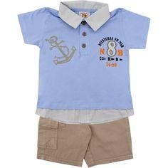 Conjunto Infantil Esporte Chique Masculino Azul - Nini & Bambini :: 764 Kids | Roupa bebê e infantil