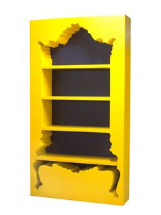 InsideOut Bookcase Yellow design inspiration on Fab. Funky Furniture, Painted Furniture, Home Furniture, Furniture Design, Baroque Furniture, Eclectic Furniture, Interior And Exterior, Interior Design, Design Interiors