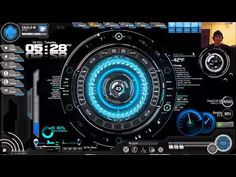 Windows J.A.R.V.I.S. software for voice control + Rainmeter theme called S.H.I.E.L.D. OS