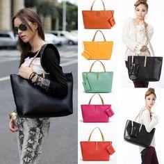 Korean New Women Hobo PU Leather Messenger Handbag Shoulder Bag Totes Purse