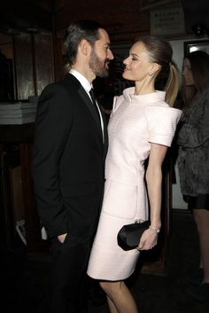 Michael Polish with Kate Bosworth in Chanel.