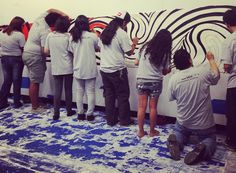 Blue Star Contemporary Art Museum's MOSAIC students are working with students from San Anto Cultural Arts on a mural for the Eastside as part of Silver & Black Give Back's Team Up Challenge.