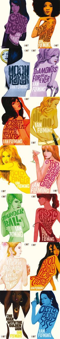 -bond collection - Ian Fleming -An interesting take on the James Bond promotionals using the well known bond girls in each movie