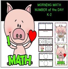 NUMBER of the Day differentiated worksheets with matching MATH FOCUS WALL…