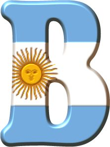 Alfabeto con la Bandera de Argentina. Argentina Country, English Letter, Gaucho, Letters And Numbers, Tango, South America, Alphabet, 1, Symbols