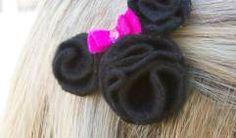 Mickey og Minnie Mouse hår hårspænder