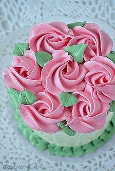 Krem maślany z mlekiem skondensowanym Food N, Food And Drink, Amazing Cakes, Sweet Recipes, Red Velvet, Frosting, Cake Decorating, Recipies, Sweets