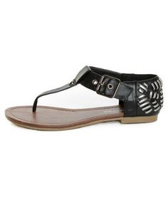 Jane Black Heel Flair Thong Sandals | City Classified