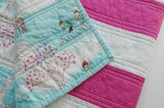 Whimsical Baby Quilt- Sara Jane Fabric- Wee Wander