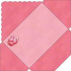 Enveloppe pour anniversaire rose