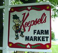 Koepsels Farm Market | Door County Wisconsin * Farmers Market * Door County Wines, Cheeses, Jams, Jellies, Spreads, Apples, Pumpkins, Door County Antiques