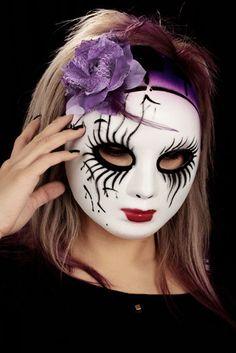 Geisha Naamio Violetilla Ruusulla | Cybershop