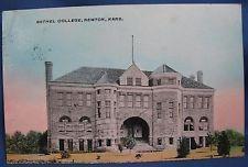 Bethel College Bldg Newton Kansas KS Colorized Photo Print Postcard Dickey 1910