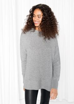 & Other Stories image 2 of Cashmere Sweater in Grey