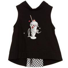 Lapin House Girls Black Ice Cream Top at Childrensalon.com