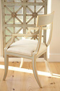 Niermann Weeks Elgin Arm Chair Sits In Three Quarter Profile Front Of A Tramezzo Screen Panel Niermannweeks