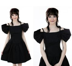 80s Black  Formal Dress 90s Vintage Sexy by neonthreadsdesigns, $42.00