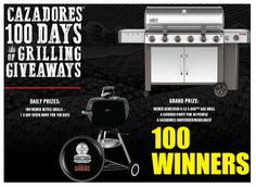 Cazadores - Win 1 of 100 Weber Kettle Grills or $7,000 Cash - http://sweepstakesden.com/cazadores-win-1-of-100-weber-kettle-grills-or-7000-cash/
