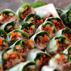 Vietnamese Pork Summer Rolls with Peanut-Hoisin Dipping Sauce