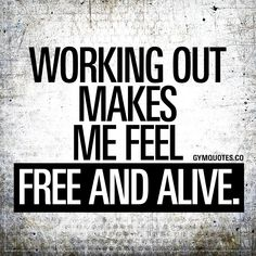 "Workout quotes: ""Working out makes me feel free and alive."" - Welcome to Gym Quotes! The best gym, fitness and workout quotes in the world! Fitness Studio Motivation, Gym Motivation Quotes, Fitness Quotes, Weight Loss Motivation, Motivation Inspiration, Fitness Inspiration, Tuesday Motivation, Workout Quotes, Motivation Success"