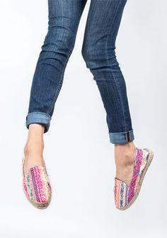 eb012618d1d4 Manebi - Ibiza Flat Espadrille Neon Multi Fabric - Jildor Shoes Ibiza