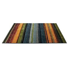 I like bright rugs on my floor--stripes or florals? Decisions, decisions!