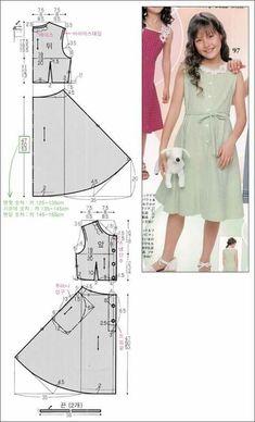 Kids Clothes Patterns, Baby Dress Patterns, Clothing Patterns, Fashion Sewing, Kids Fashion, Little Girl Dresses, Girls Dresses, Dress Anak, Baby Sewing