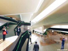 Zaha Hadid Architects, WimmerMedia, Linz, Austria, 2011