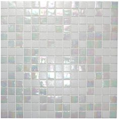 Mixed Cloud White Glimmer Glass Tile - Subway Tile Outlet