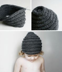 "Beehive Beanie pattern. (Would love to do this in a ""beehive color"" with little bee buttons!)"