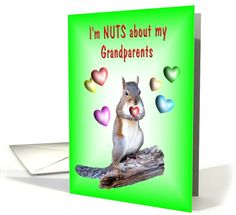 #Grandparents Day - #Squirrel Greeting Card Grandparents Day Cards, Squirrel, Greeting Cards, Fall, Crafts, Autumn, Manualidades, Fall Season, Squirrels