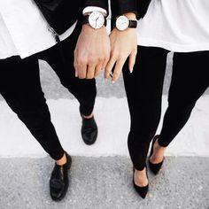 Imagem de fashion, couple, and black Couple Style, Couple Goals, Gym Couple, Couple Pics, Matching Couple Outfits, Matching Couples, Cute Couples, Fashion Couple, Fashion Over 40