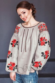 Ukrainian embroidered boho blouse vyshyvanka by GLAZDOV on Etsy Ethnic Fashion, Boho Fashion, Womens Fashion, Fashion Design, Fashion Tips, Embroidered Clothes, Embroidered Blouse, Moda Rural, Mode Russe