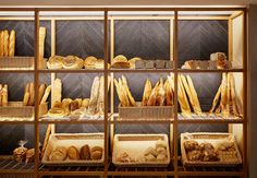 Best and Fresh Bakery Interior Design Ideas. Design for a good and eye-catchy bakery can attract visitors to visit and buy the bread you sell. In addition to being able to attract them, the de. Bakery Cafe, Bakery Store, Bakery Decor, Bakery Interior, Shop Interior Design, Bakery Shop Design, Cafe Design, Restaurant Design, Store Design