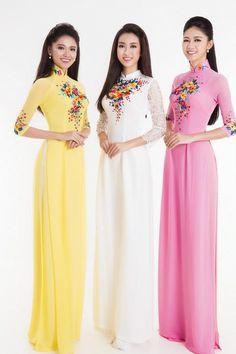 áo dài màu pastel