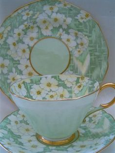 Image detail for -tea trio chintz cup saucer plate set Deco | Everything stops for tea ...