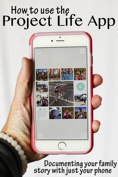 The Project Life App. It's scrapbooking withOUT having to scrapbook. The perfect way to document your family story all with your phone. Video tutorial on everything you need to know to use the Project Life app to get those photos OFF our devices.