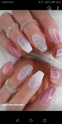 Hottest Awesome Summer Nail Design Ideas for 2019 Part summer nail colours; summer nails coffin The post Hottest Awesome Summer Nail Design Ideas for 2019 Part 19 appeared first on alss wp. Metallic Nails, Cute Acrylic Nails, Acrylic Nail Designs, Cute Nails, Glitter Nail Art, Glitter Nail Designs, Nails With Glitter Tips, Designs For Nails, Acrylic Nails Almond Glitter