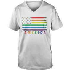 America Rainbow Flag T-Shirt #gift #ideas #Popular #Everything #Videos #Shop #Animals #pets #Architecture #Art #Cars #motorcycles #Celebrities #DIY #crafts #Design #Education #Entertainment #Food #drink #Gardening #Geek #Hair #beauty #Health #fitness #History #Holidays #events #Home decor #Humor #Illustrations #posters #Kids #parenting #Men #Outdoors #Photography #Products #Quotes #Science #nature #Sports #Tattoos #Technology #Travel #Weddings #Women