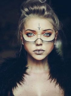 Paulina Ogłódek - Halloween Makeup - Wasser - Paulina Ogłódek – Halloween Make-up – # Ogłódek - Makeup Inspo, Makeup Inspiration, Beauty Makeup, Eye Makeup, Makeup Ideas, Makeup Geek, Viking Makeup, Tribal Makeup, Witch Makeup