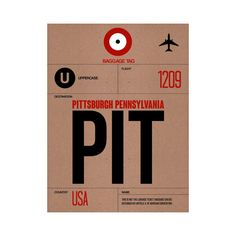 PIT Pittsburgh Luggage Tag