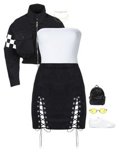 featuring moda, ONIA, adidas, Aqua and Gucci Teen Fashion Outfits, Stage Outfits, Kpop Outfits, Edgy Outfits, Kpop Fashion, Korean Fashion, Girl Outfits, Baddies Outfits, Fall Fashion