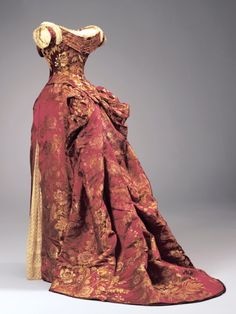 ~Charles Fredrick Worth, French, born in England 1825-1895 Evening Dress (Bodice and Skirt) c. 1885~