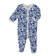 nouveau! Bleu roi avec motif de petit bateau Body//combinaison//pyjama Nicky