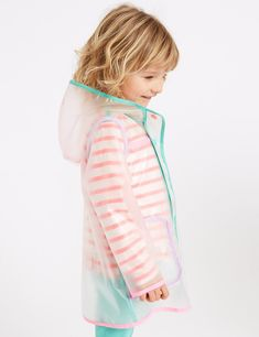 M&S Kids Raincoat Hooded Clear Mac Months - 7 Years) Source by Coat Baby Raincoat, Raincoat Jacket, Hooded Raincoat, Stylish Raincoats, Raincoats For Women, Rain Pants, Kids Pants, Vestidos, Sewing Projects